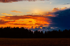 Sunset in the clouds Royalty Free Stock Photo