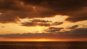 Sunset and orange clouds Royalty Free Stock Photos