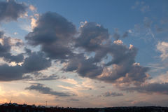 Sunset clouds in Prague, Czech Republic Royalty Free Stock Photography