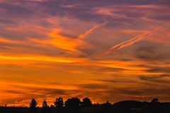 Sunset, Clouds, Sky, Evening Sky Royalty Free Stock Photography