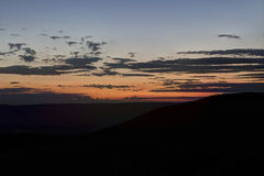 Sunset With Clouds, From Skyline Drive Royalty Free Stock Images