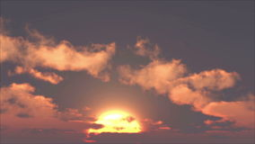 Sunset With Clouds stock video footage