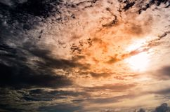 Sunset clouds texture background . Stock Image