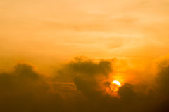 Sunset between the clouds. Thailand Stock Photo