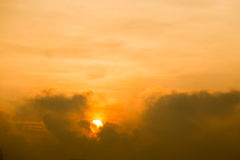 Sunset between the clouds. Thailand Royalty Free Stock Image