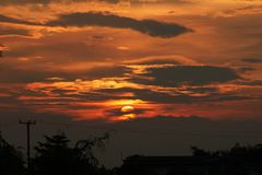 Sunset with clouds in thialand. Sunset with clouds at loacl in thialand Stock Photos