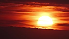 Sunset with clouds stock footage