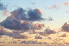 Sunset Clouds in Tropical Colors Background Stock Photography