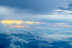 Sunset with clouds Stock Photos