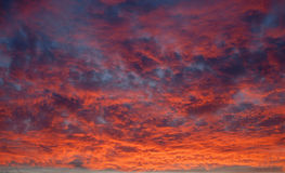 Sunset cloudscape Stock Photography