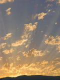 Sunset and cloudscape Royalty Free Stock Photography