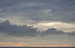 Sunset cloudscape over the Adriatic Sea Royalty Free Stock Photos