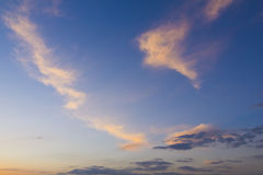 Sunset cloudscape Royalty Free Stock Photos