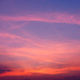 Sunset with cloudscape. Red and Yellow clouds at sunset. Very tranquil and inspiring scene Stock Photography