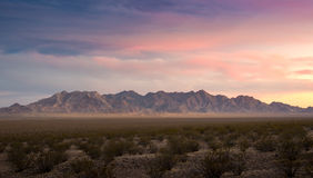 Sunset cloudy day Red Rock Canyon Panorama view. Lavegas , Nevada Royalty Free Stock Photo
