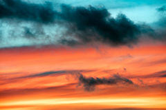 Sunset cloudy sky detail background Stock Photo