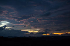 Sunset on cloudy sky Royalty Free Stock Photography