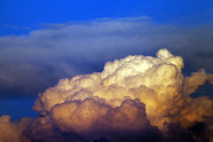 Sunset cloudy sky Royalty Free Stock Images