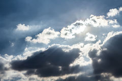 Sunset and cloudy sky Royalty Free Stock Photography