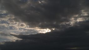 Sunset cloudy sky timelapse stock video