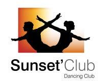 Sunset Club Logo. Logo Design for Dance Club Royalty Free Stock Photos