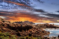 Sunset Coast. Beautiful sunset coastline Western Australia Royalty Free Stock Image