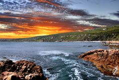 Sunset Coast. Beautiful sunset coastline Western Australia Stock Images