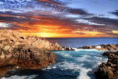 Sunset Coast. Beautiful sunset coastline Western Australia Stock Photography