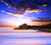Sunset Coast Royalty Free Stock Photography