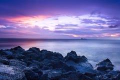 Sunset coast Royalty Free Stock Photography