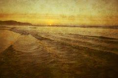 Sunset on coast Royalty Free Stock Photos