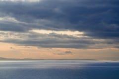 Sunset on the coast. Royalty Free Stock Photo