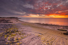 Sunset on the coast of Cape Range NP, Western Australia Royalty Free Stock Photography