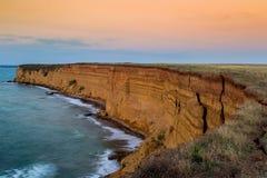 Sunset on the coast Royalty Free Stock Photography