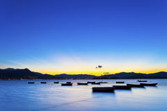 Sunset Coast In Hong Kong Royalty Free Stock Photography
