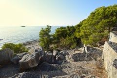 Sunset on the Coast in Istria. Croatia. Europe stock images