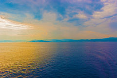 Sunset at the coast of Italy Stock Photography