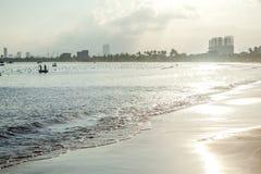 Sunset coast line, Da Nang Royalty Free Stock Images
