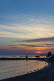 Sunset On The Coast Of The Mediterranean's Resort. Stock Photo