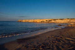 Sunset at the coast of the Mediterranean Sea Stock Images