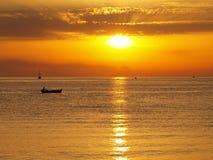 Sunset on the coast of Adriatic Stock Photos