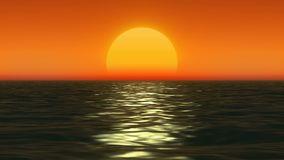 Sunset at coast of the sea royalty free illustration