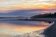 Sunset at coastline in Australia Stock Image