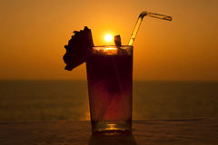 Sunset cocktail. Royalty Free Stock Images