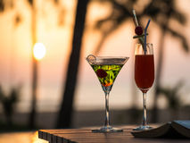 Sunset cocktail Stock Image