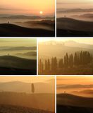 Sunset Collage Royalty Free Stock Images