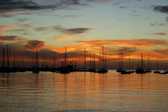 Sunset Colonia del Sacramento Stock Image