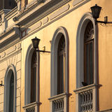 Sunset and colonial architecture in Bogota Royalty Free Stock Photo