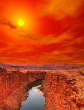 Sunset Colorado river Royalty Free Stock Photos