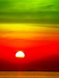 sunset colorful heat tone sky and cloud sunlight Stock Photos
